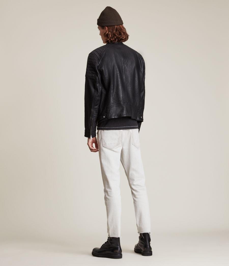 Men's Rocco Leather Jacket (black) - Image 8