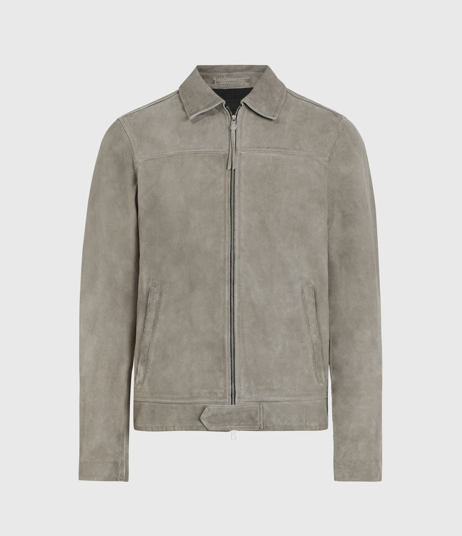 Herren Hampden Suede Jacket (light_grey) - Image 1