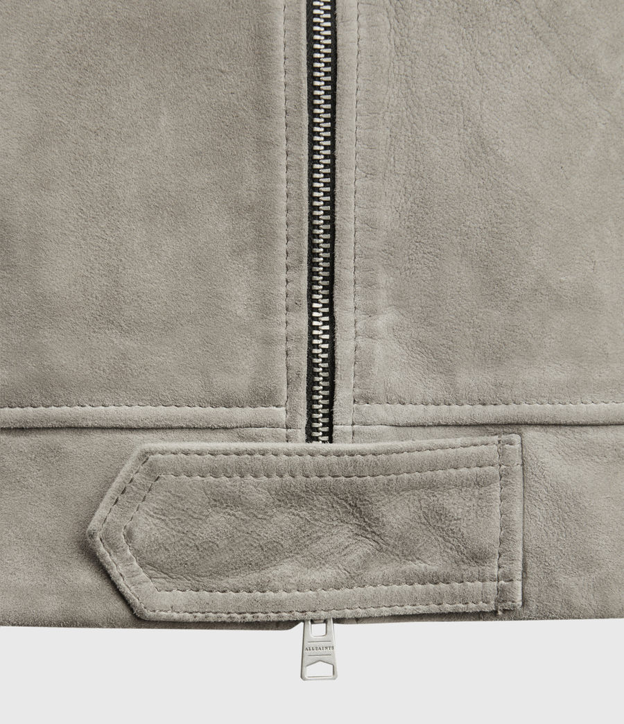 Herren Hampden Suede Jacket (light_grey) - Image 3