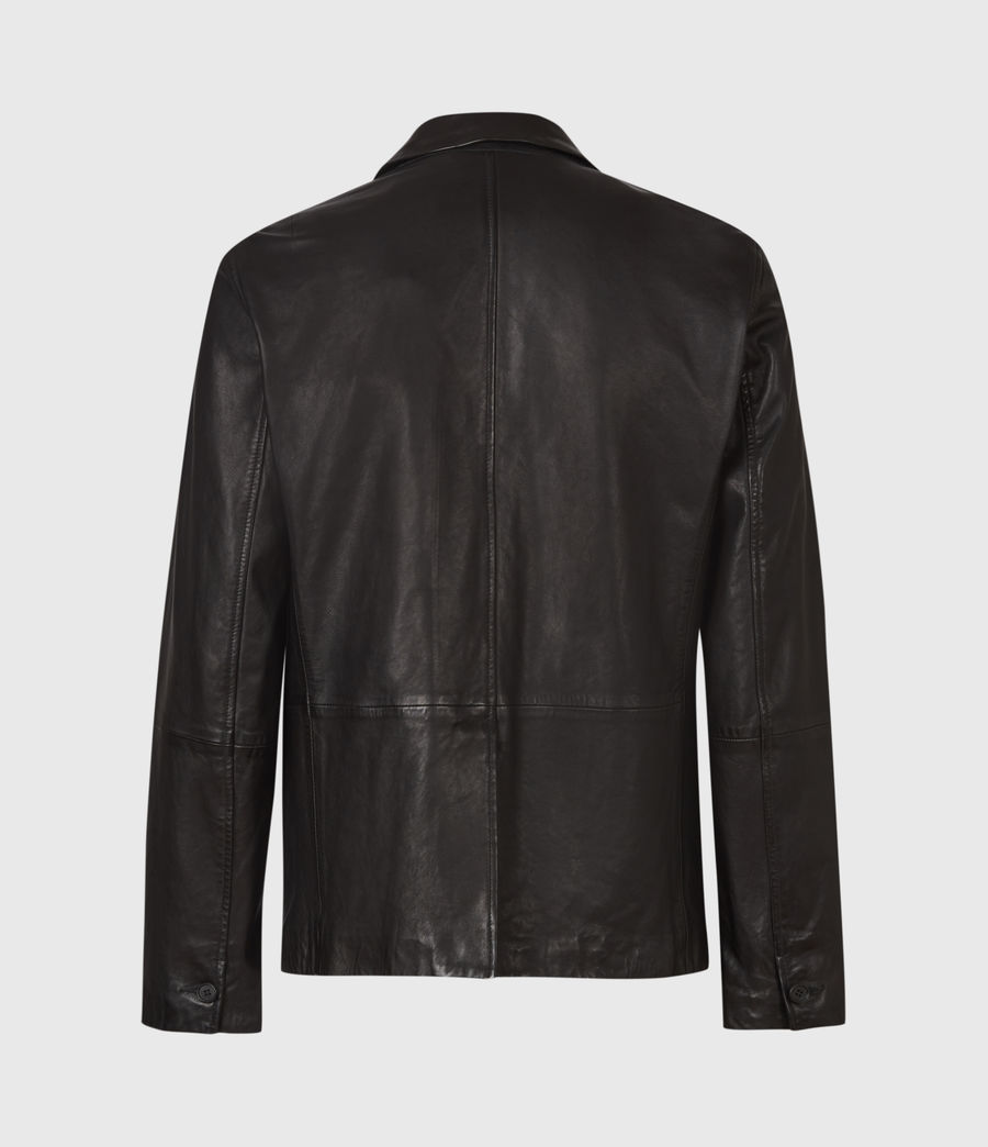 Mens Barton Leather Blazer (black) - Image 3