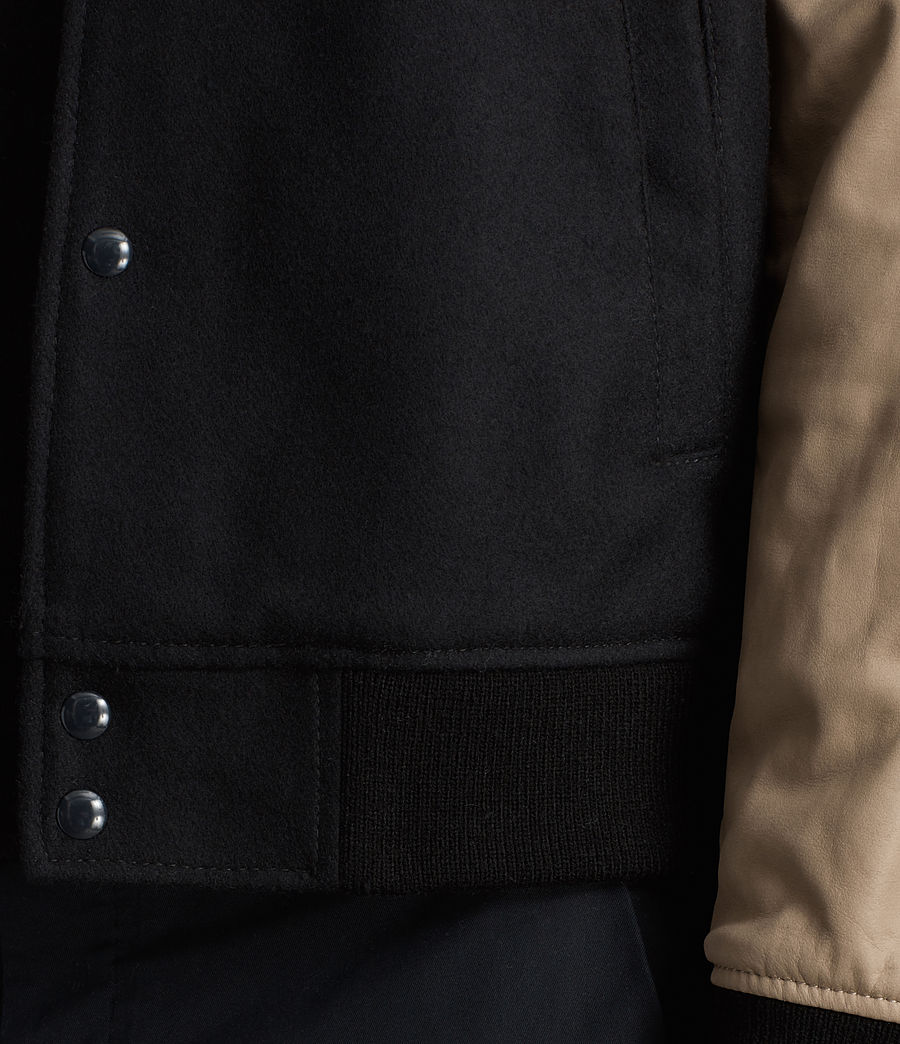Hommes Bomber Murray en cuir (ink_navy) - Image 5