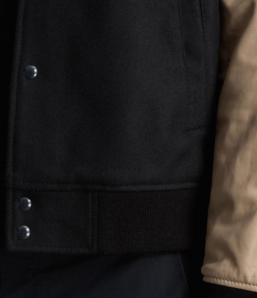 Mens Murray Leather Bomber Jacket (ink_navy) - Image 5