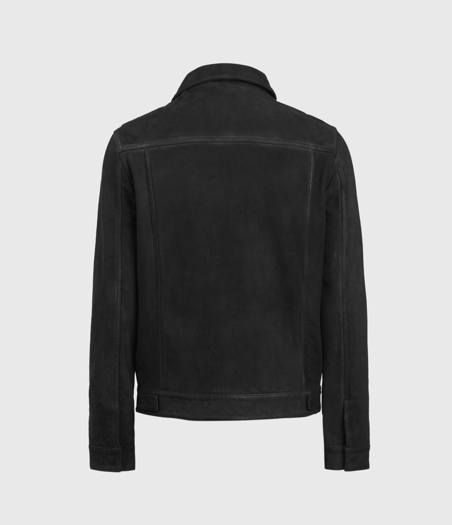 Mens Hazel Leather Jacket (black) - Image 2