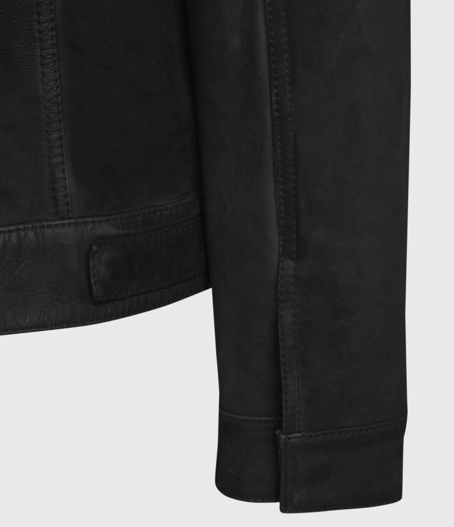 Mens Hazel Leather Jacket (black) - Image 3