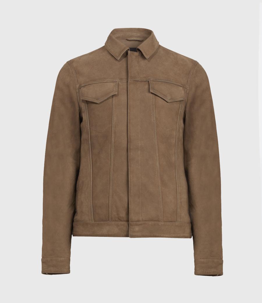 Mens Hazel Leather Jacket (light_grey_vintage) - Image 2