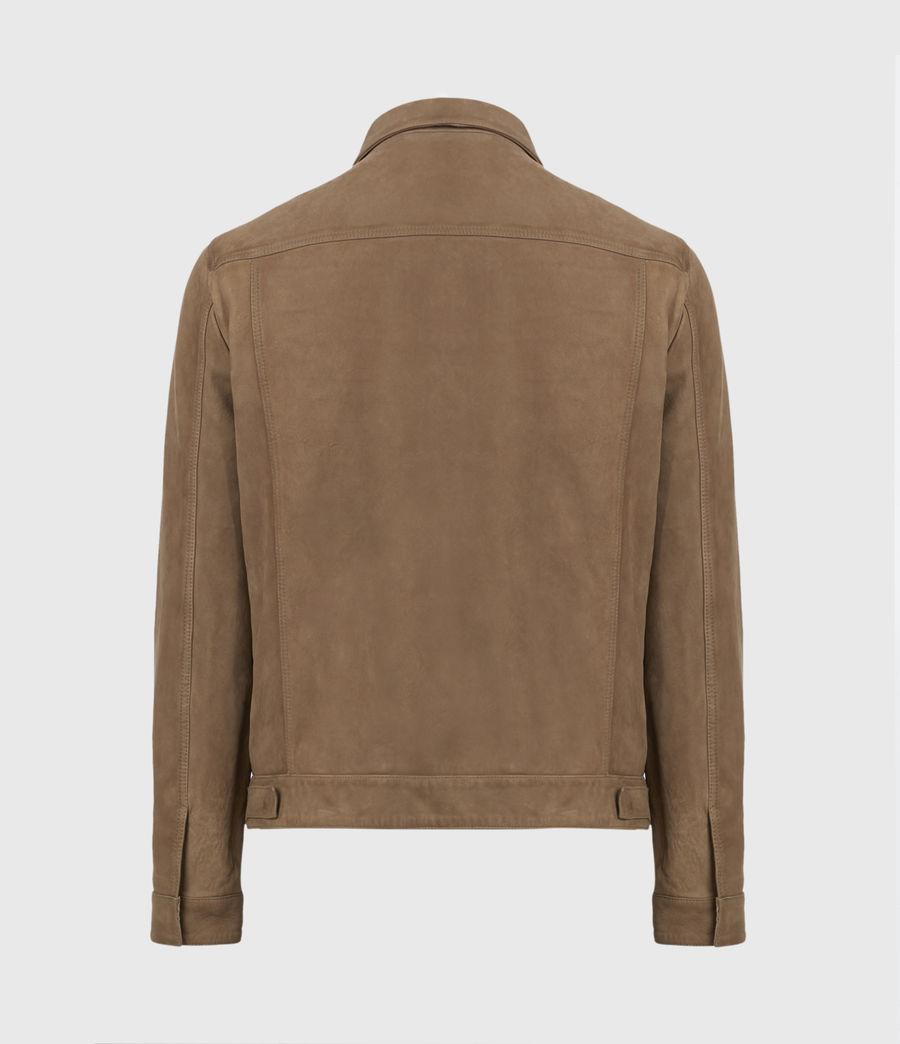 Mens Hazel Leather Jacket (light_grey_vintage) - Image 3