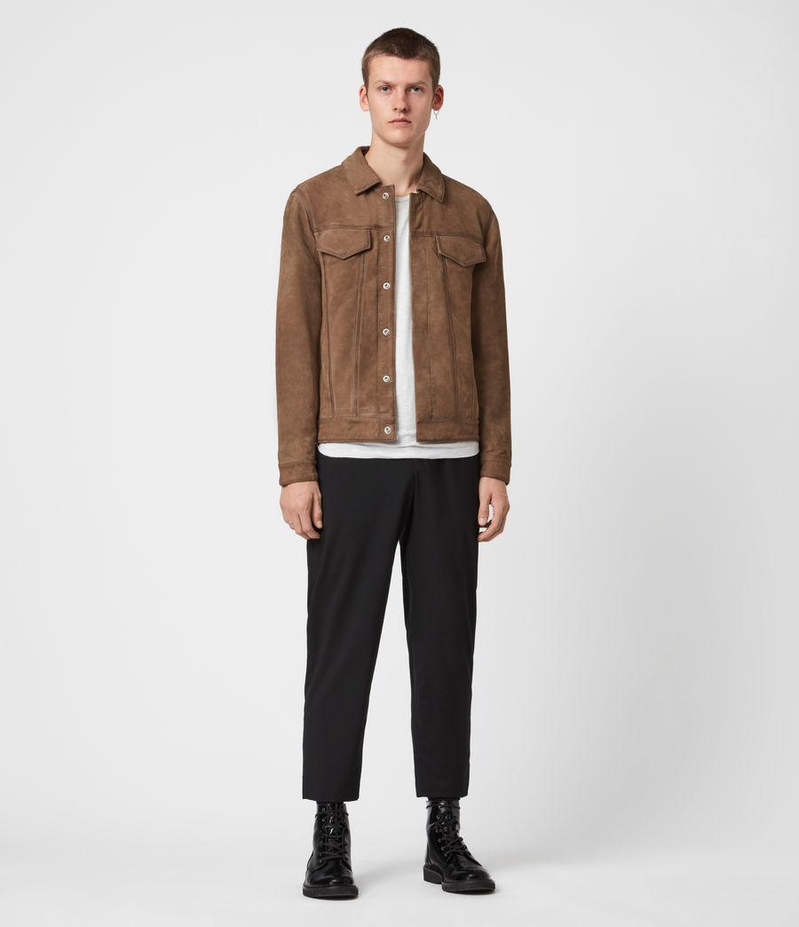 Mens Hazel Leather Jacket (light_grey_vintage) - Image 4