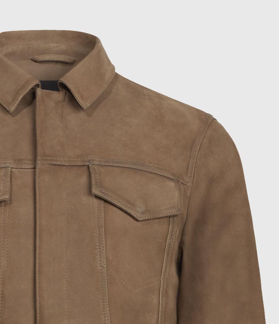 Mens Hazel Leather Jacket (light_grey_vintage) - Image 5