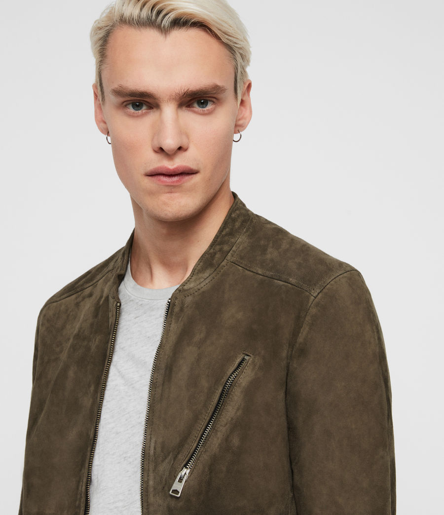 Men's Holbrooke Suede Jacket (dark_khaki_green) - Image 2
