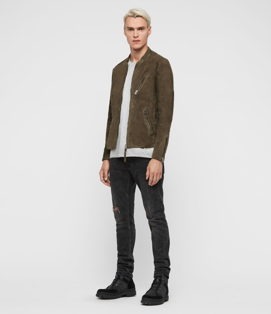 Men's Holbrooke Suede Jacket (dark_khaki_green) - Image 3