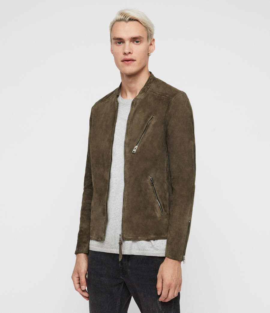 Men's Holbrooke Suede Jacket (dark_khaki_green) - Image 4