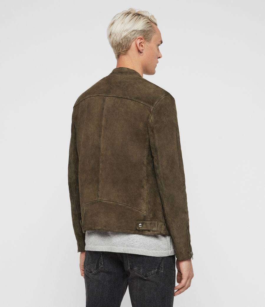 Men's Holbrooke Suede Jacket (dark_khaki_green) - Image 5