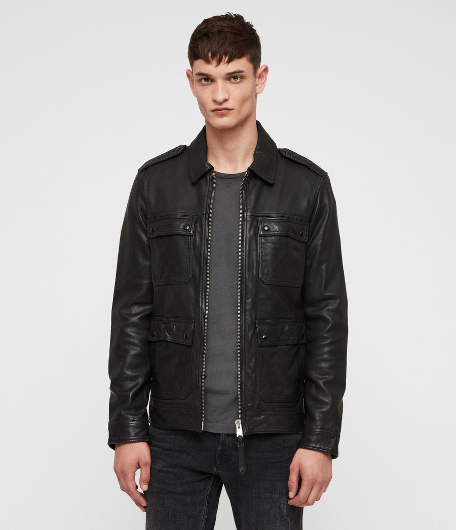Mens Kage Leather Jacket (black) - Image 1