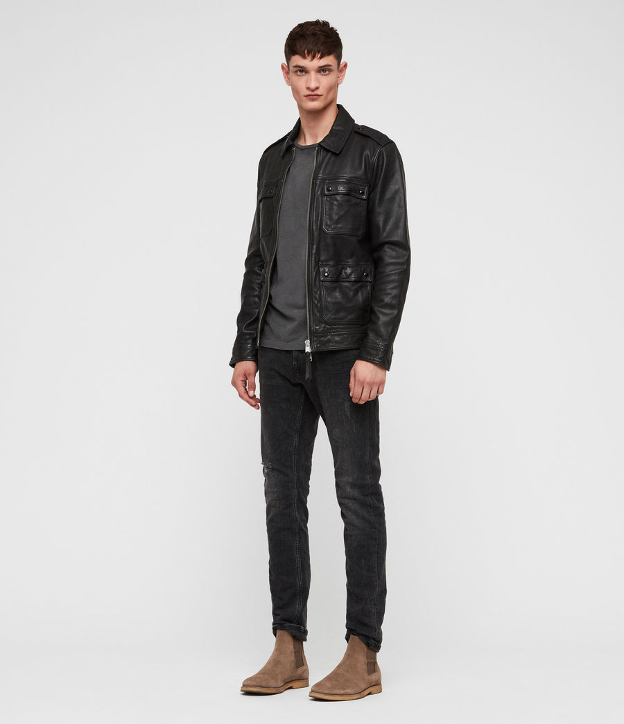Men's Kage Leather Jacket (black) - Image 3