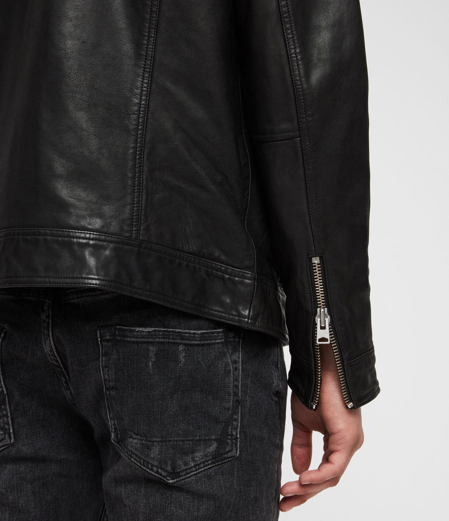 Mens Kage Leather Jacket (black) - Image 4