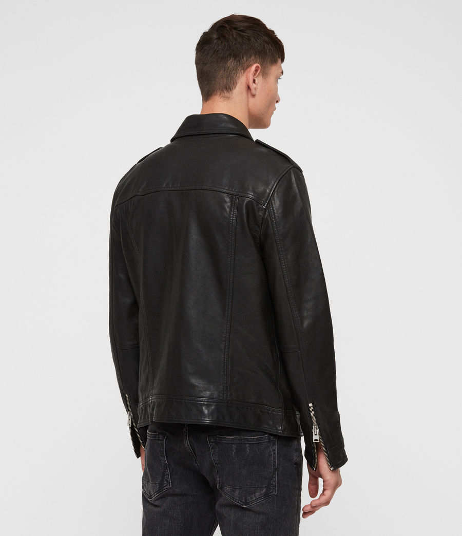 Mens Kage Leather Jacket (black) - Image 5