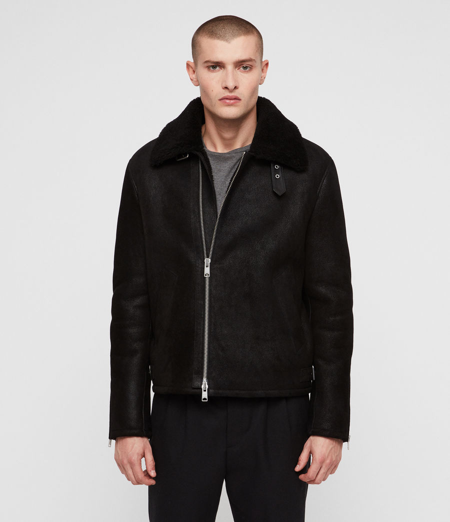Men's Dekley Shearling Jacket (black) - Image 4