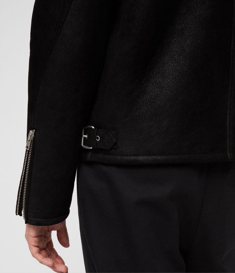Hombres Chaquetón de Piel Dekley (black) - Image 5