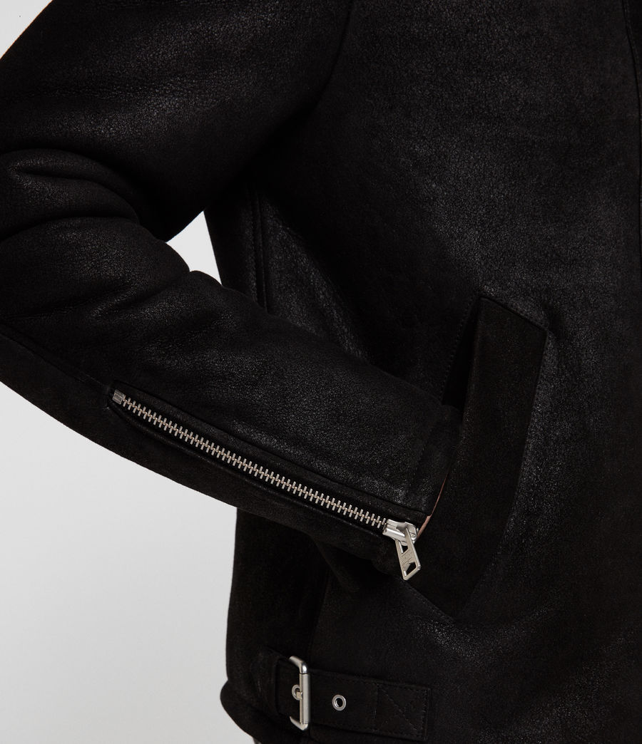 Hombres Chaquetón de Piel Dekley (black) - Image 6