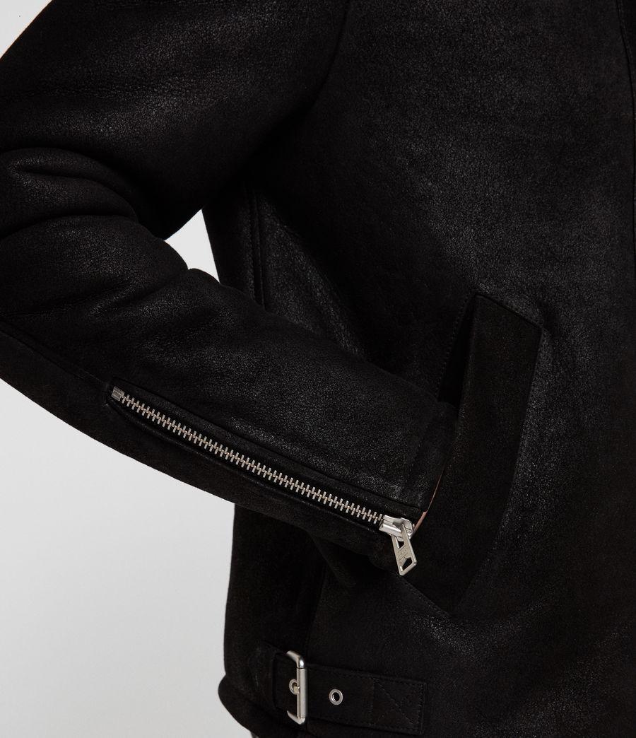 Men's Dekley Shearling Jacket (black) - Image 6