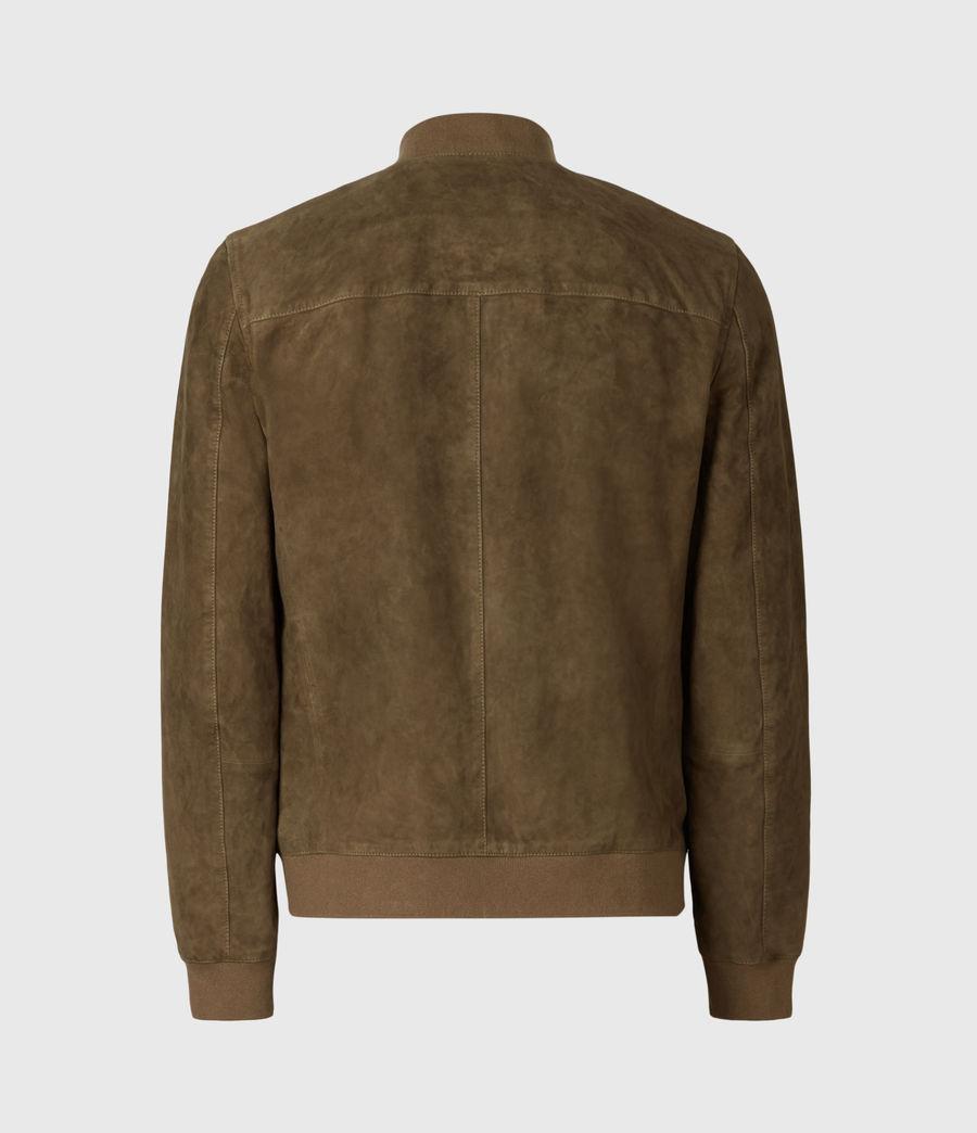 Mens Kemble Suede Bomber Jacket (khaki) - Image 5