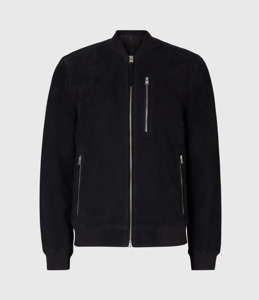 Men's Kemble Suede Bomber Jacket (ink) - Image 4