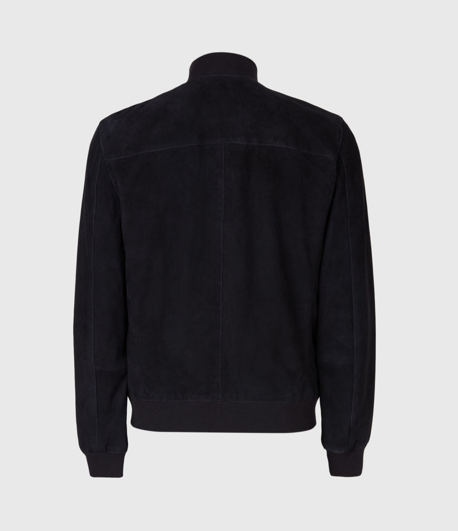 Men's Kemble Suede Bomber Jacket (ink) - Image 10