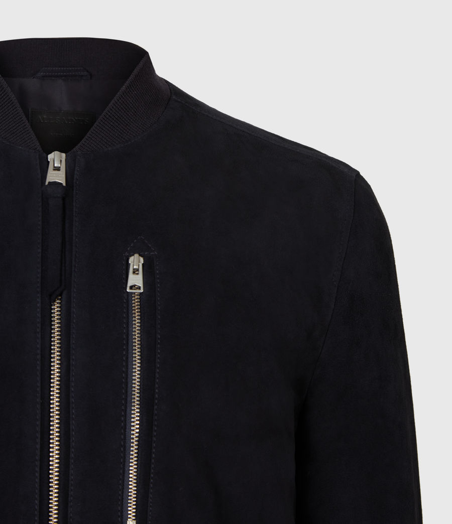 Mens Kemble Suede Bomber Jacket (ink) - Image 7