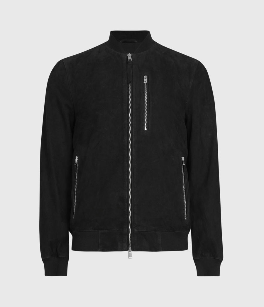 Men's Kemble Suede Bomber Jacket (black) - Image 2