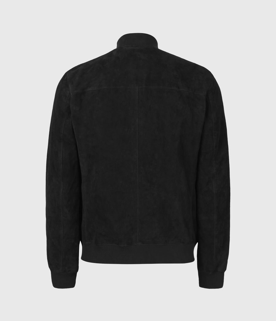 Men's Kemble Suede Bomber Jacket (black) - Image 3