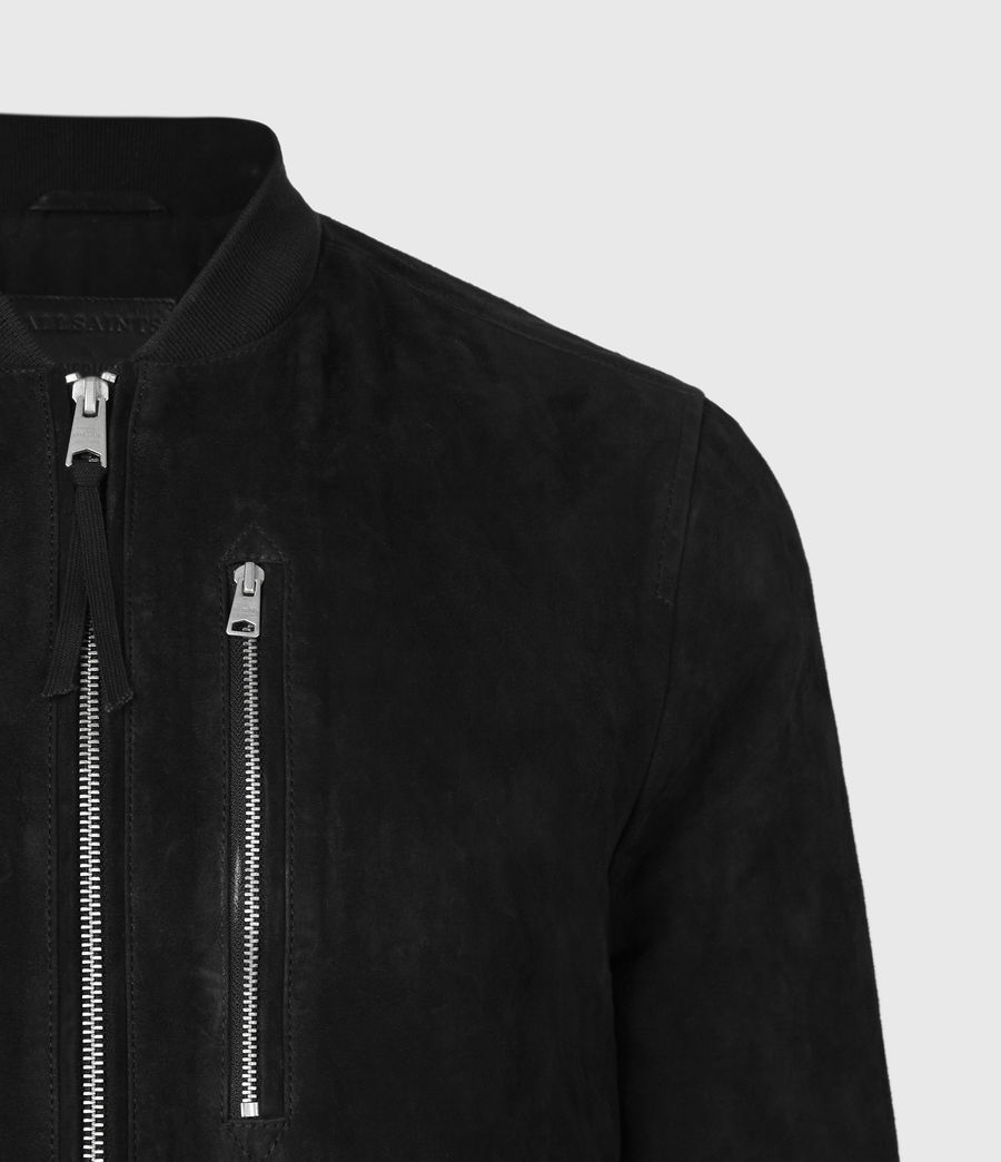 Men's Kemble Suede Bomber Jacket (black) - Image 5