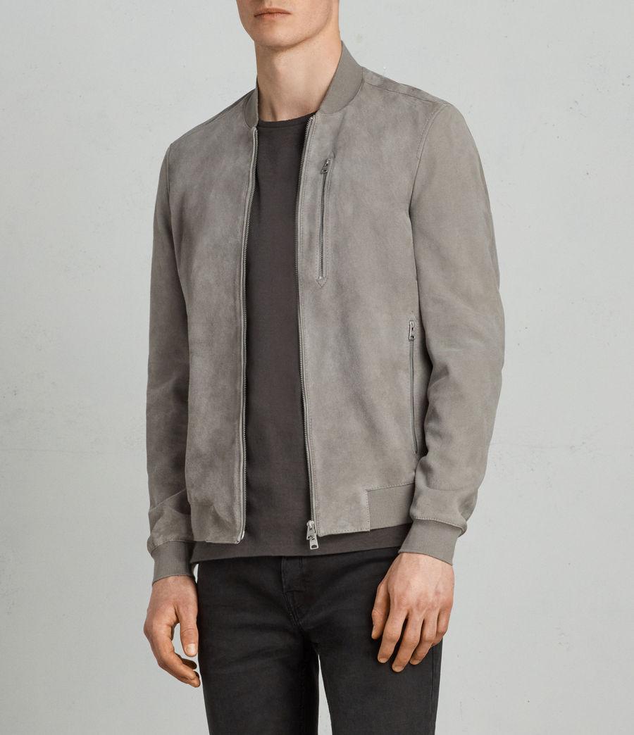 Men's Kemble Suede Bomber Jacket (ash_grey) - Image 1