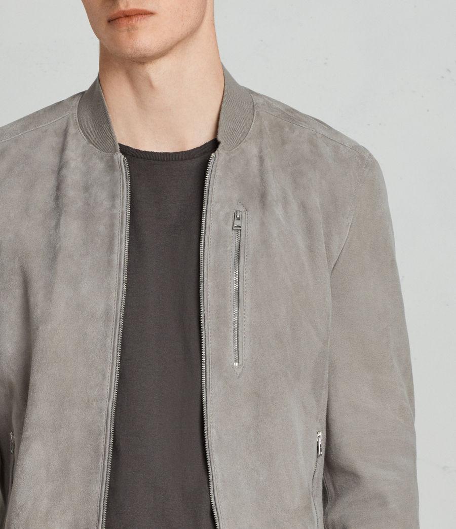 Men's Kemble Suede Bomber Jacket (ash_grey) - Image 2