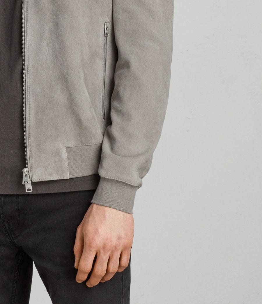 Men's Kemble Suede Bomber Jacket (ash_grey) - Image 4