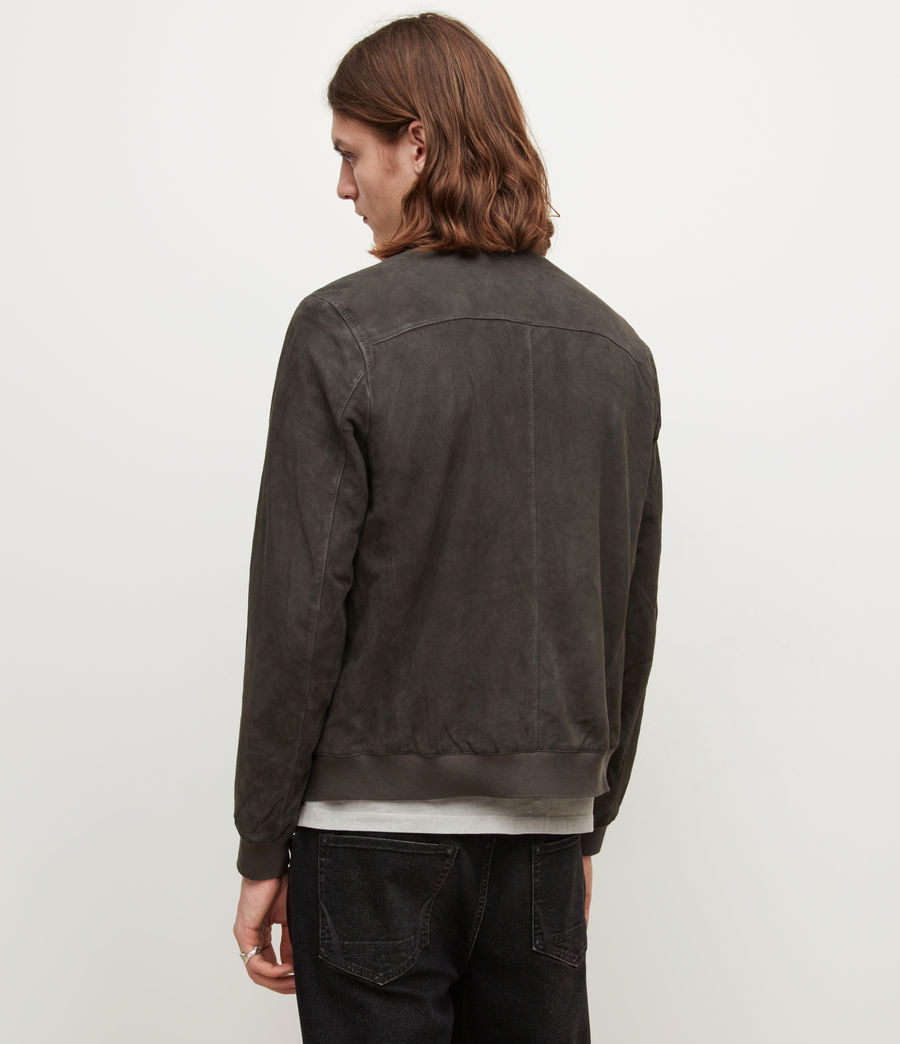 Mens Kemble Suede Bomber Jacket (soot_grey) - Image 4