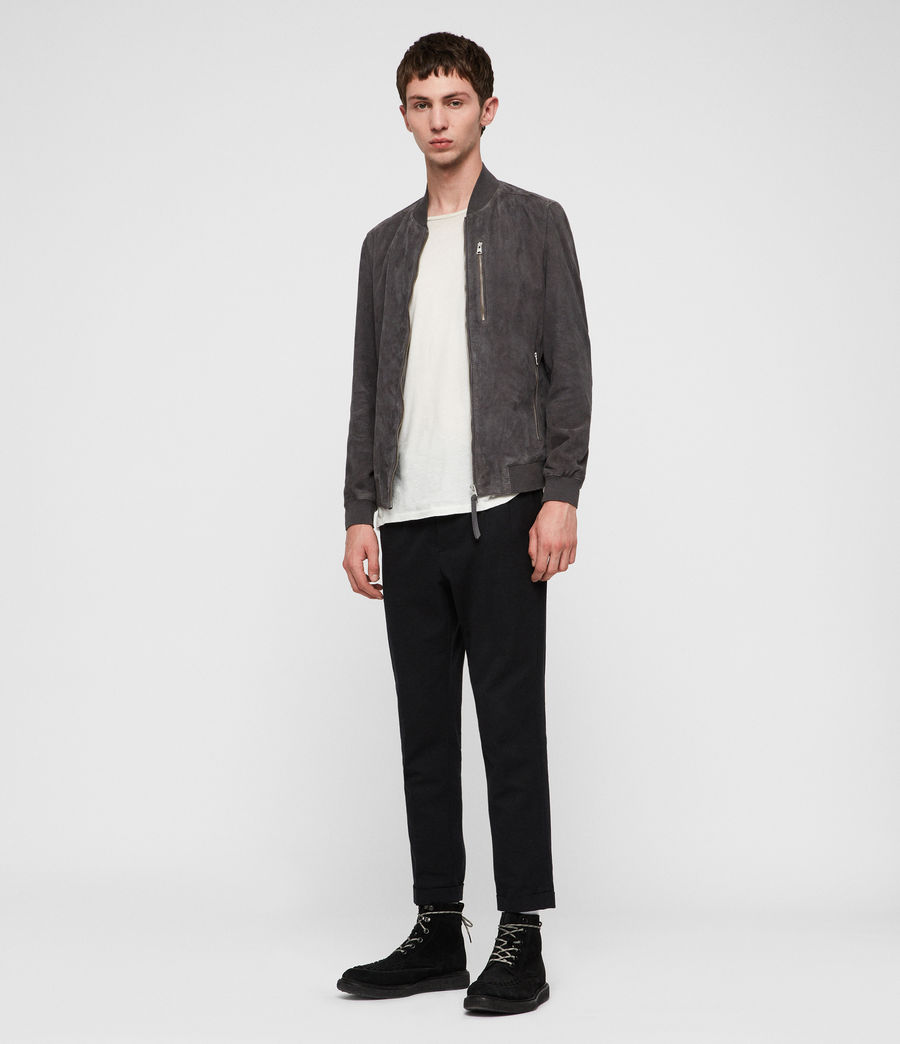 Men's Kemble Suede Bomber Jacket (atlantic_grey) - Image 1