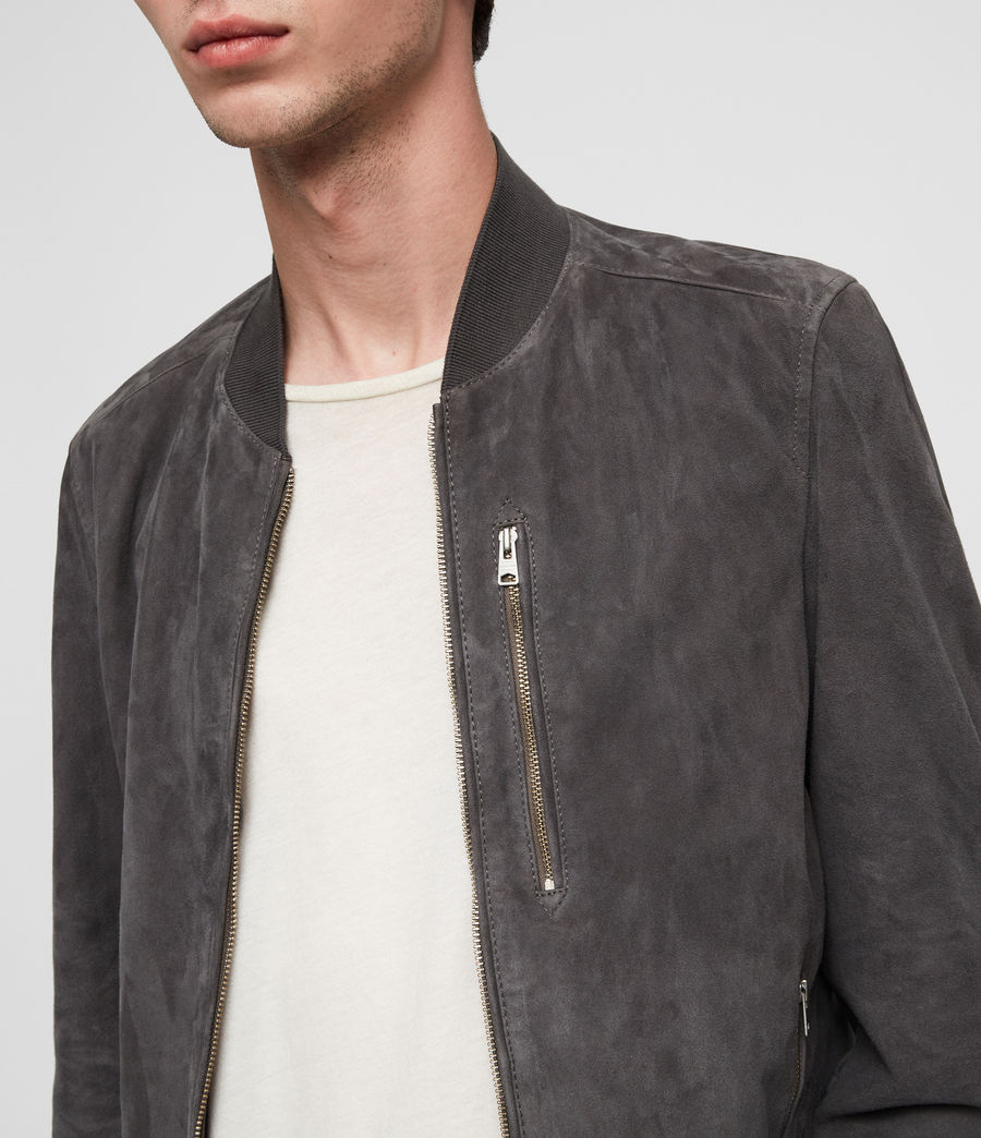 Men's Kemble Suede Bomber Jacket (atlantic_grey) - Image 2