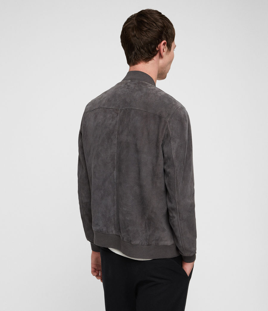 Men's Kemble Suede Bomber Jacket (atlantic_grey) - Image 4