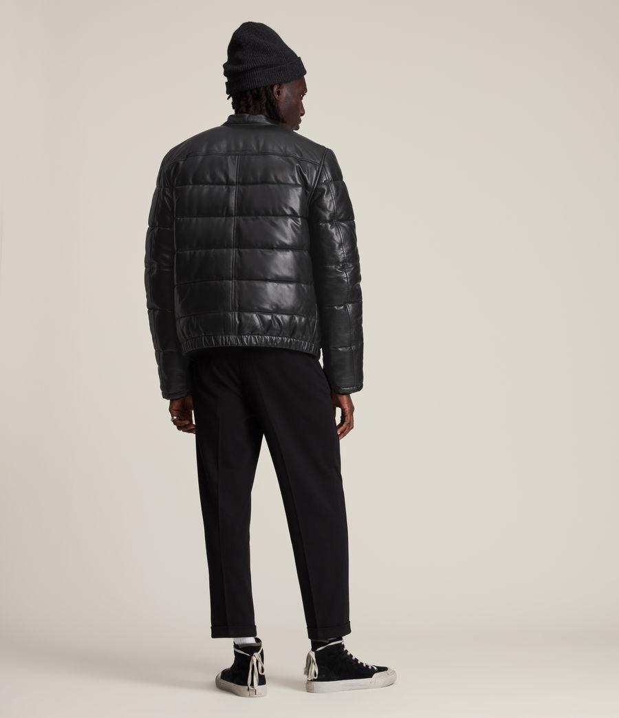 Men's Russel Leather Puffer Jacket (black) - Image 6