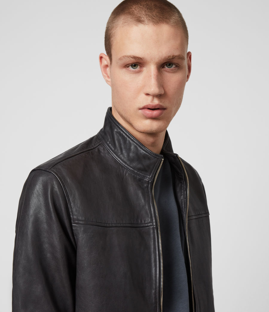 Men's Astoria Leather Jacket (black) - Image 2