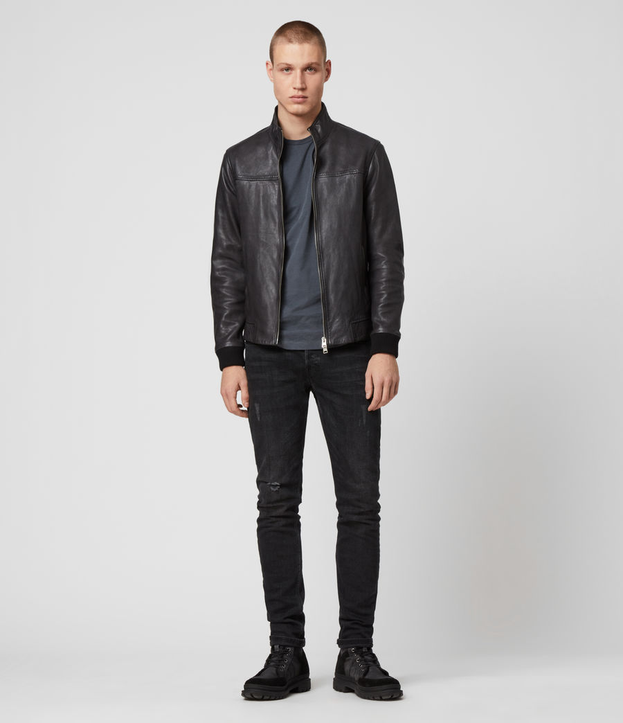 Men's Astoria Leather Jacket (black) - Image 3