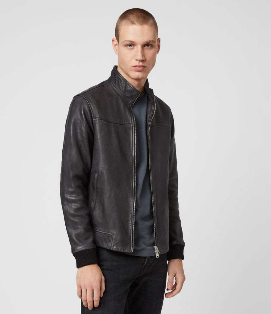 Men's Astoria Leather Jacket (black) - Image 4