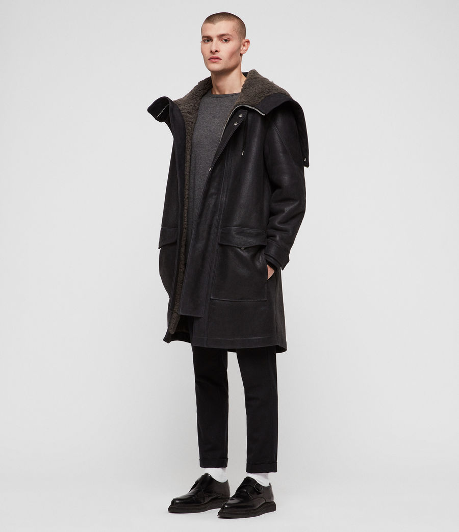 Hommes Parka Hartley (black_slate_grey) - Image 1