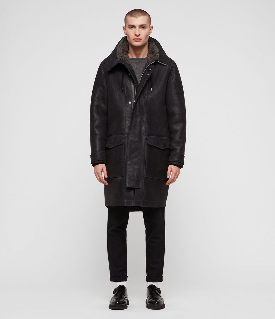 Hommes Parka Hartley (black_slate_grey) - Image 3