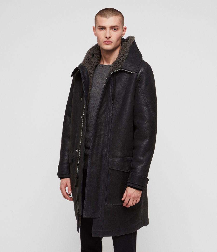 Hommes Parka Hartley (black_slate_grey) - Image 4