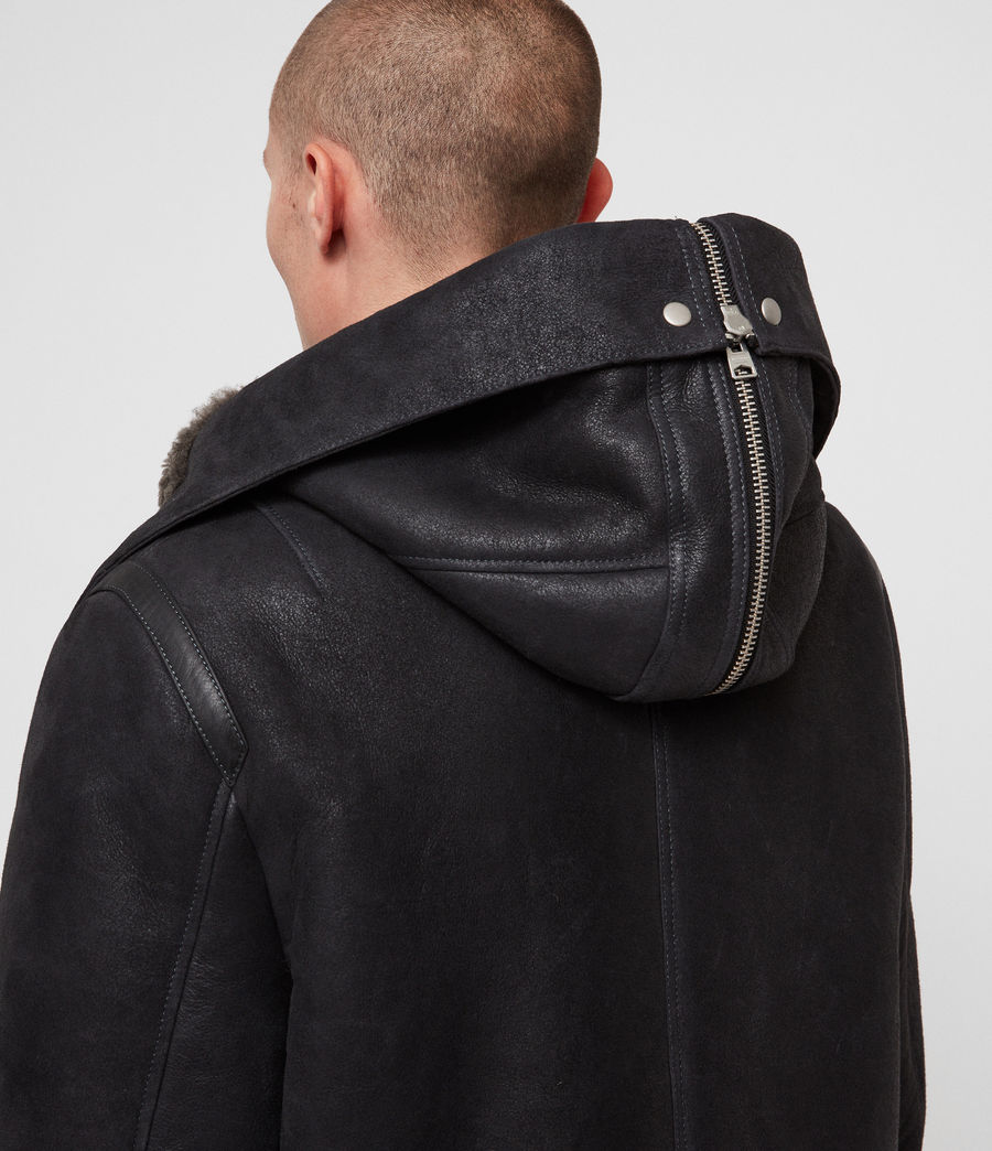 Hommes Parka Hartley (black_slate_grey) - Image 6