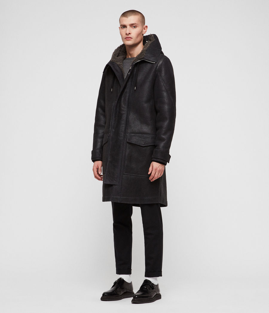 Hommes Parka Hartley (black_slate_grey) - Image 7