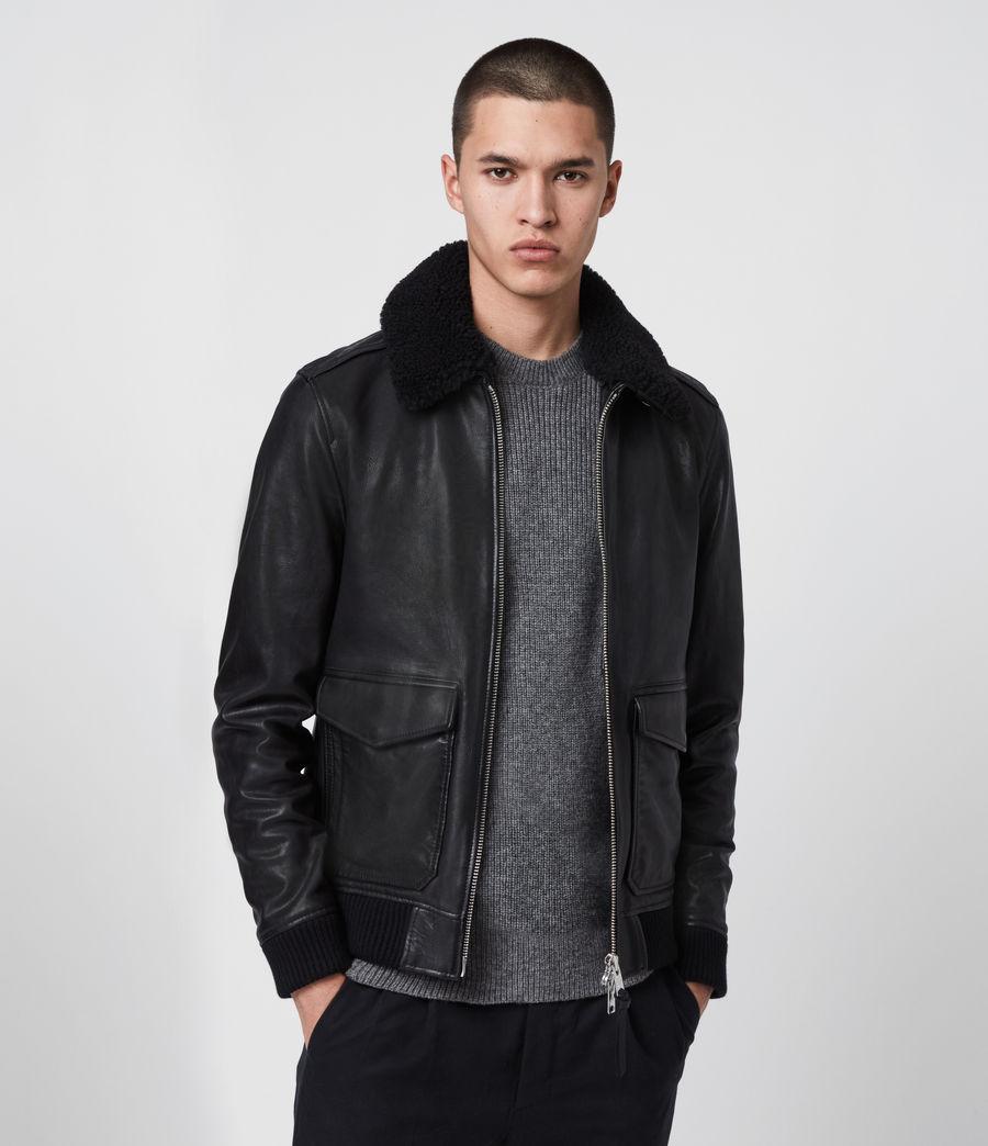 Men's Phoenix Leather Aviator Jacket (black) - Image 1