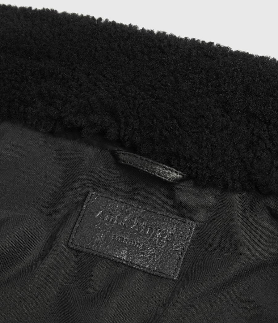 Men's Phoenix Leather Aviator Jacket (black) - Image 8