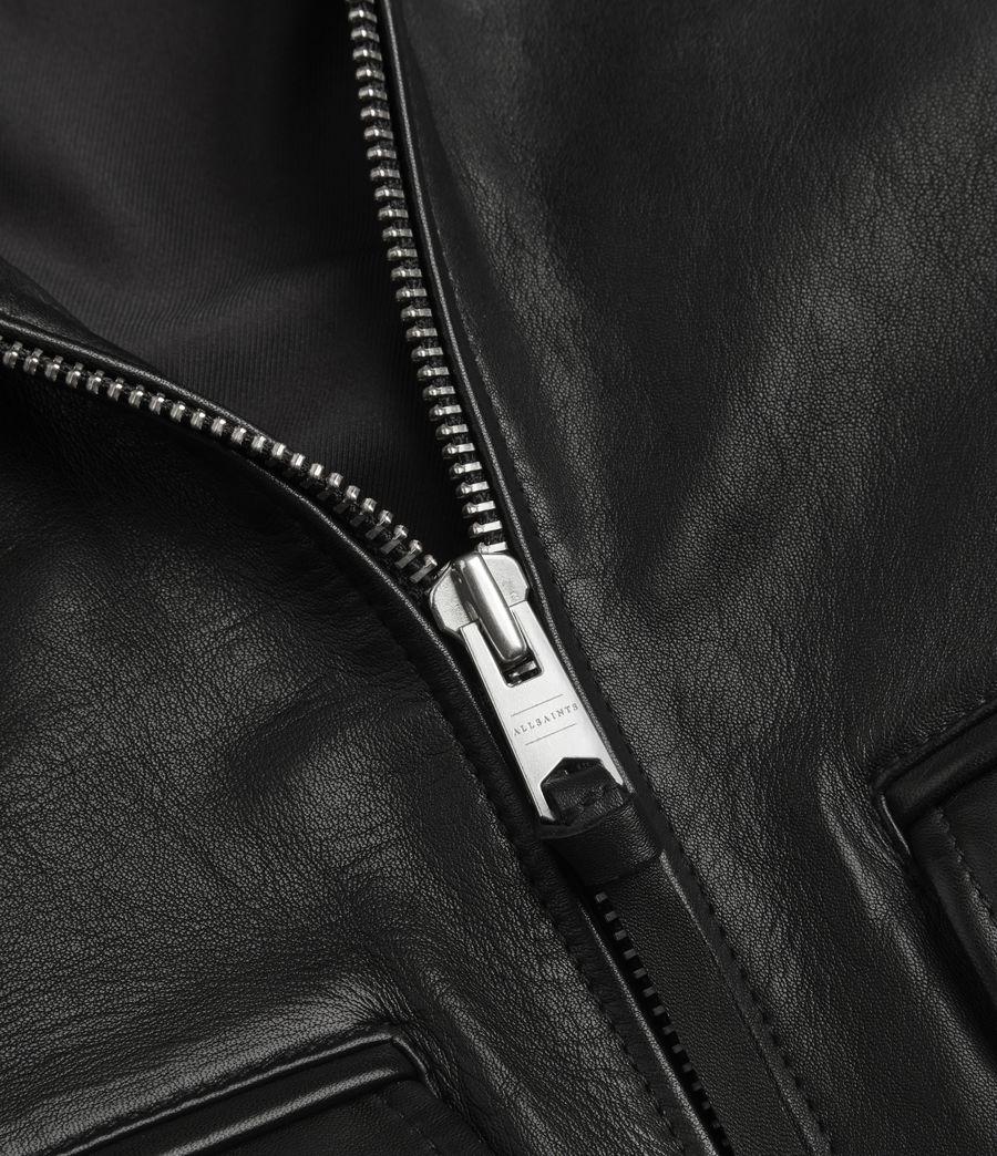 Men's Phoenix Leather Aviator Jacket (black) - Image 9